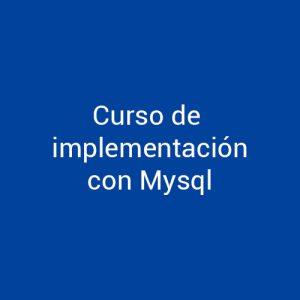 Cursos de Implementación con MySQL para empresas en Madrid y Barcelona