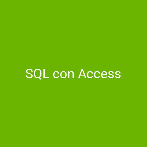 Curso SQL con Access para empresas en Madrid y Barcelona. CEDECO